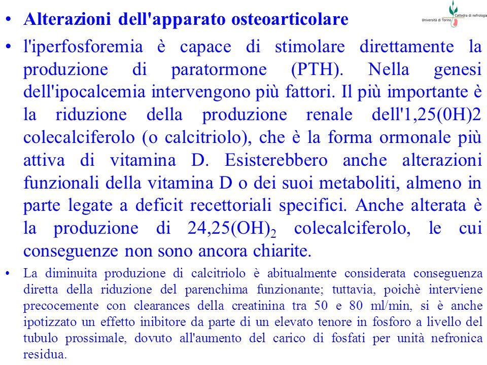 Alterazioni dell apparato osteoarticolare