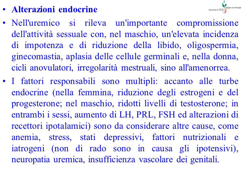 Alterazioni endocrine