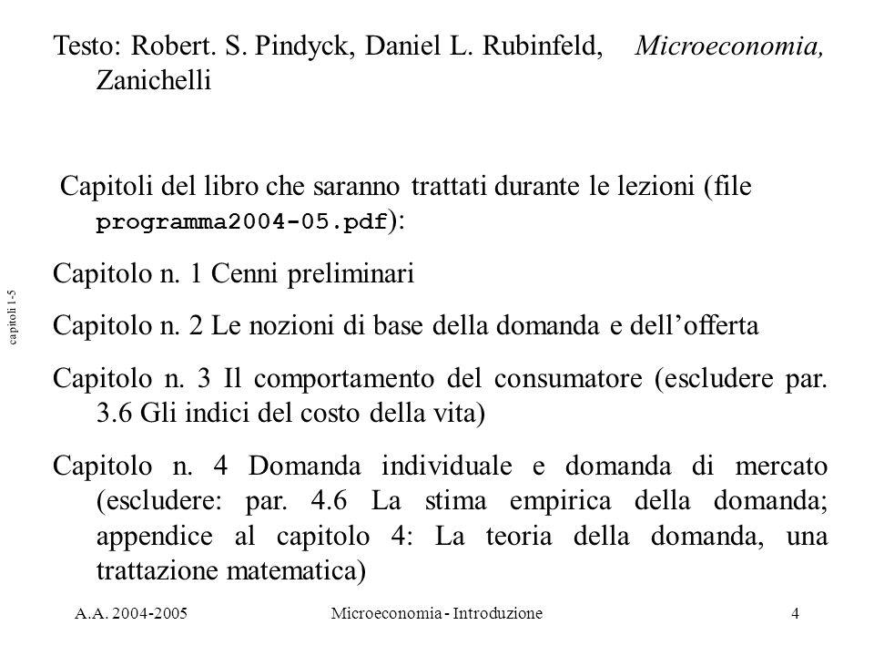 Microeconomia - Introduzione