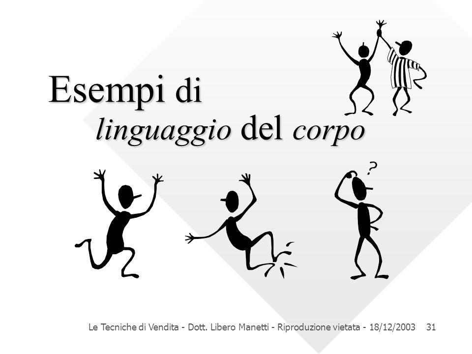Esempi di linguaggio del corpo