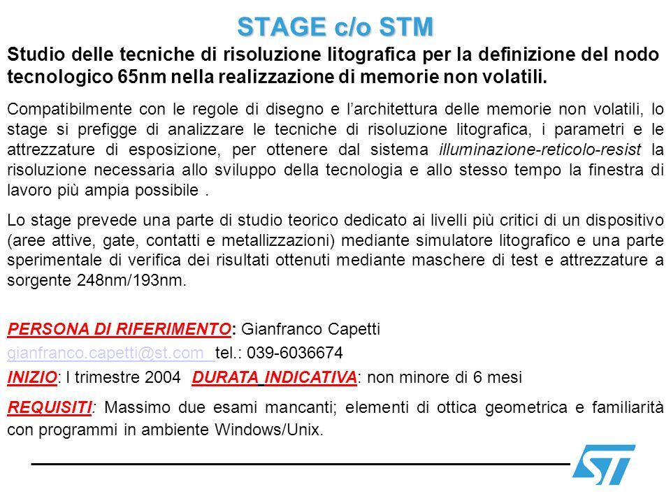 STAGE c/o STM