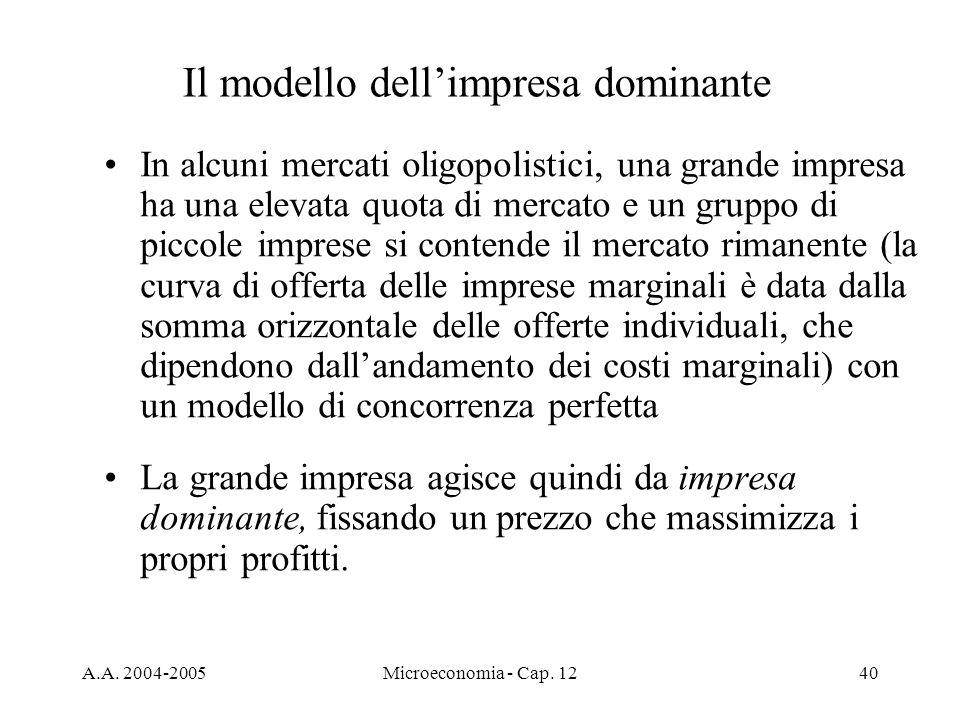 Il modello dell'impresa dominante
