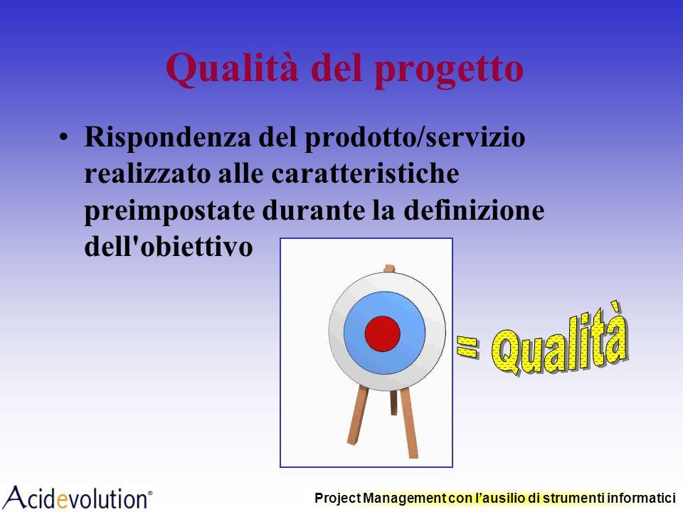 Qualità del progetto = Qualità