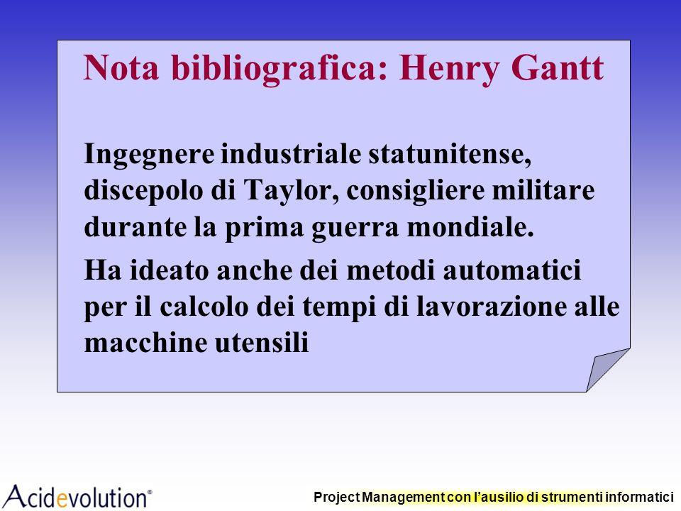 Nota bibliografica: Henry Gantt