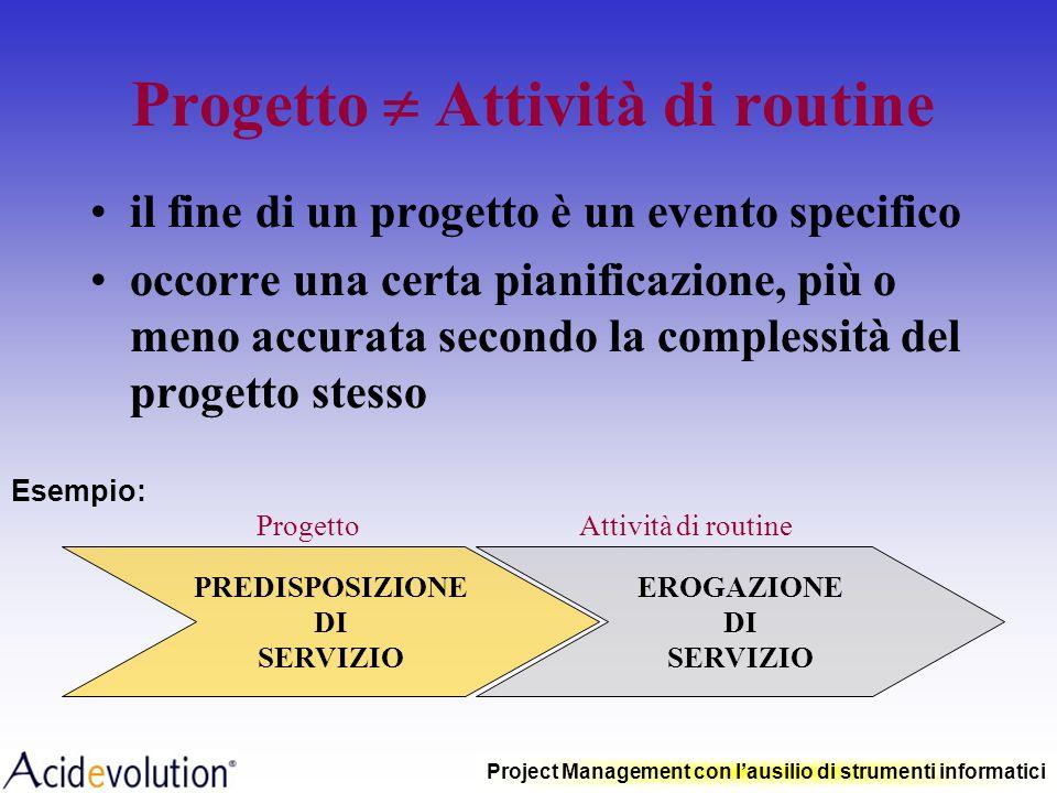 Progetto  Attività di routine