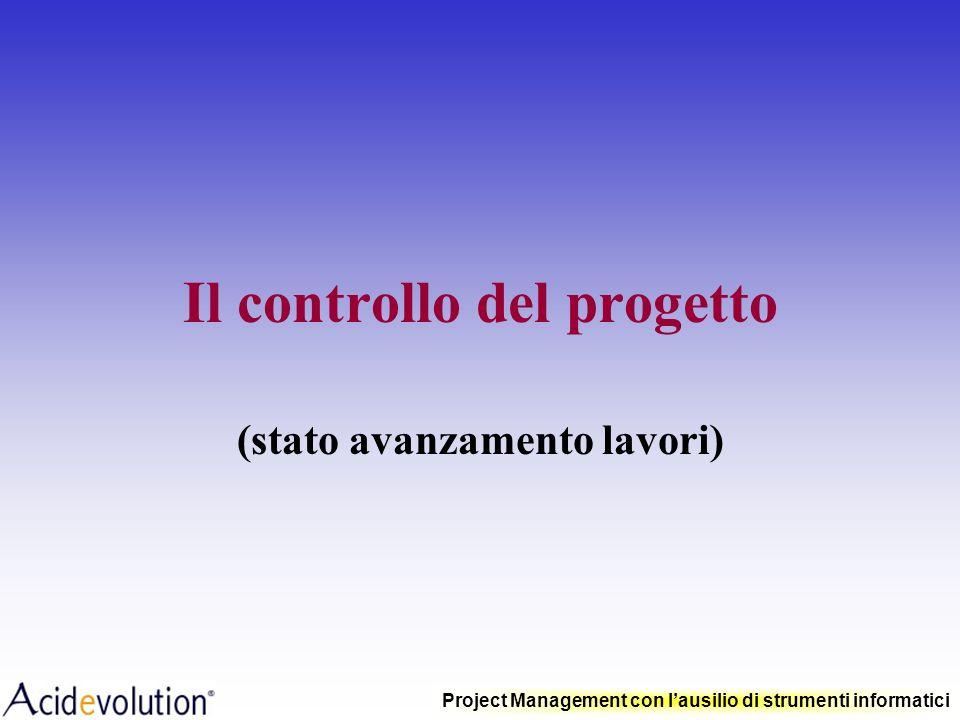 Il controllo del progetto