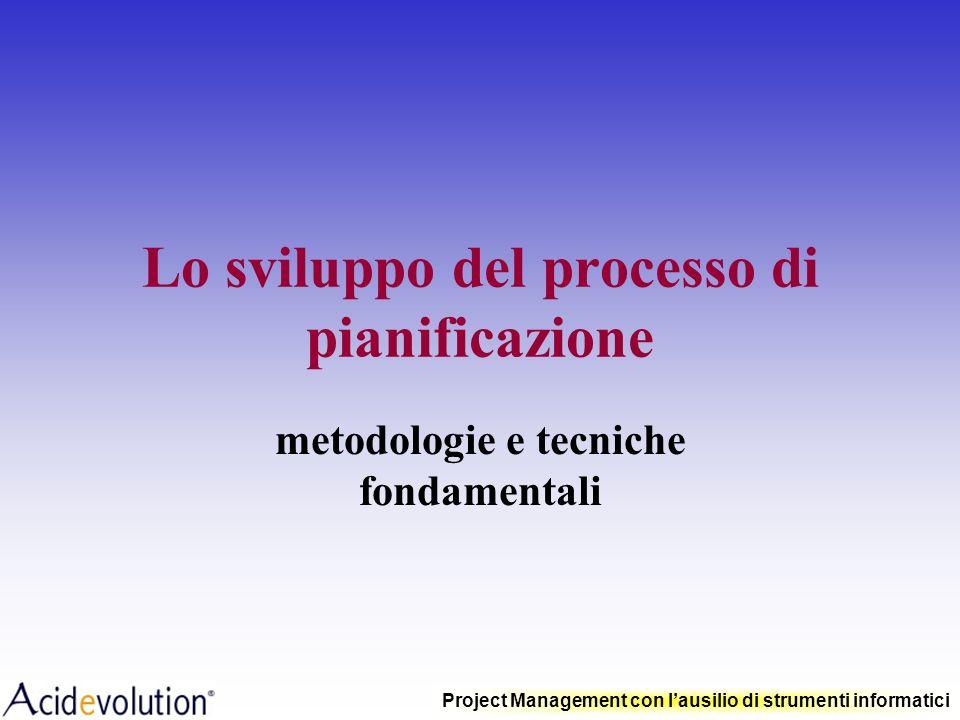 Lo sviluppo del processo di pianificazione
