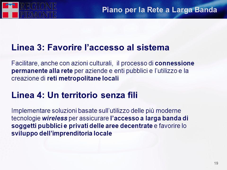 Linea 3: Favorire l'accesso al sistema