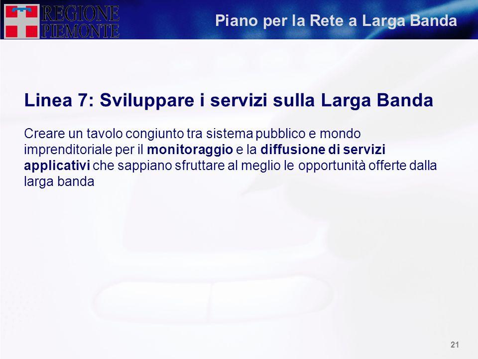 Linea 7: Sviluppare i servizi sulla Larga Banda
