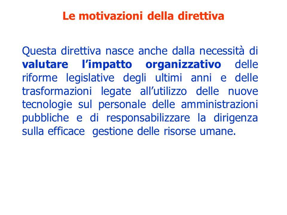 Le motivazioni della direttiva