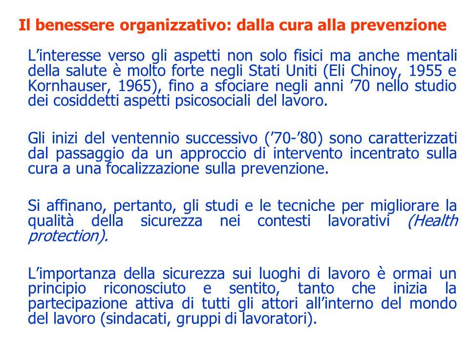 Il benessere organizzativo: dalla cura alla prevenzione