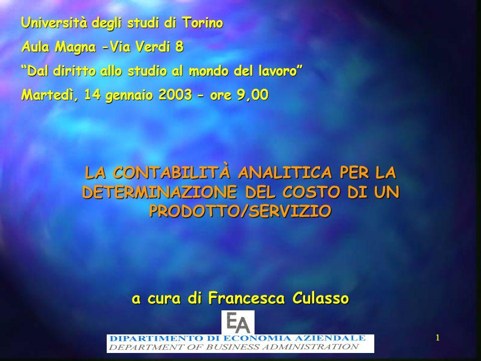 a cura di Francesca Culasso