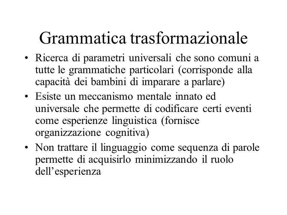 Grammatica trasformazionale