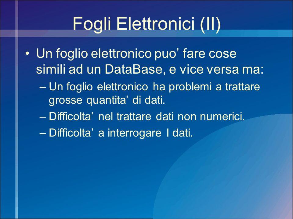 Fogli Elettronici (II)