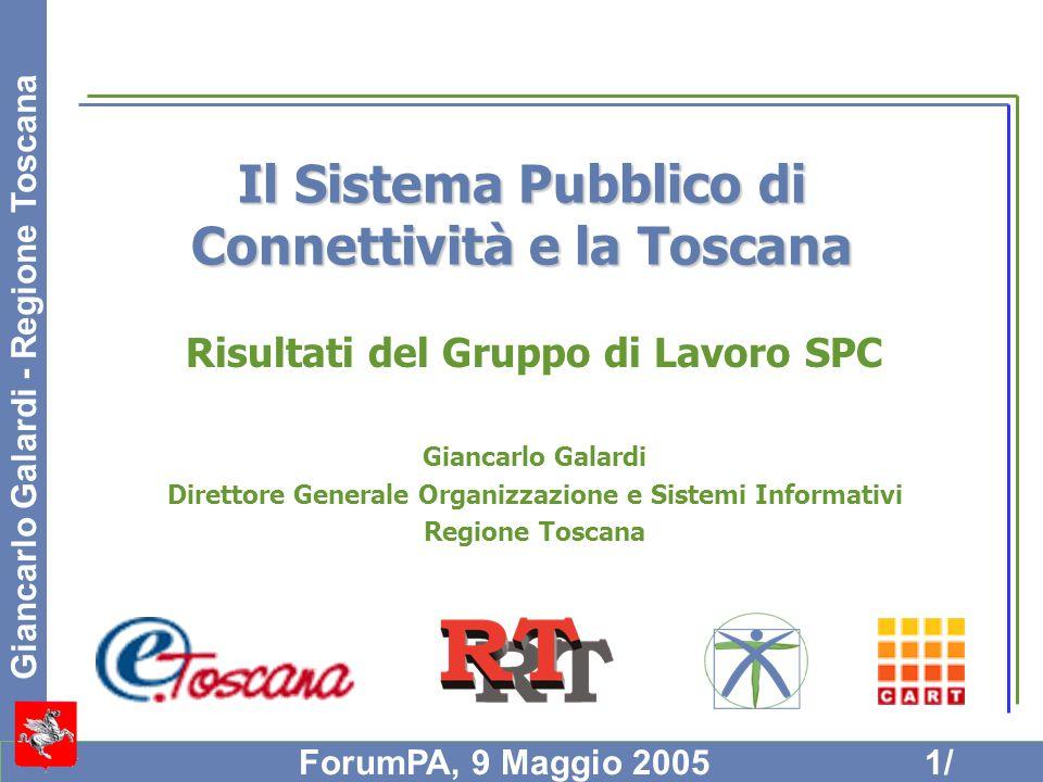 Il Sistema Pubblico di Connettività e la Toscana