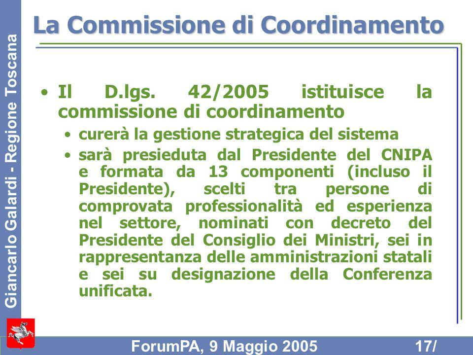 La Commissione di Coordinamento