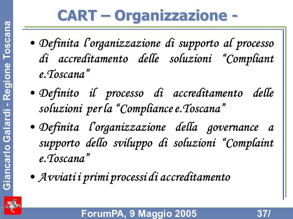 CART – Organizzazione -