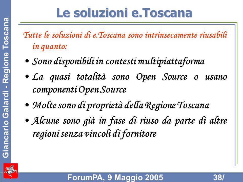 Le soluzioni e.Toscana Sono disponibili in contesti multipiattaforma