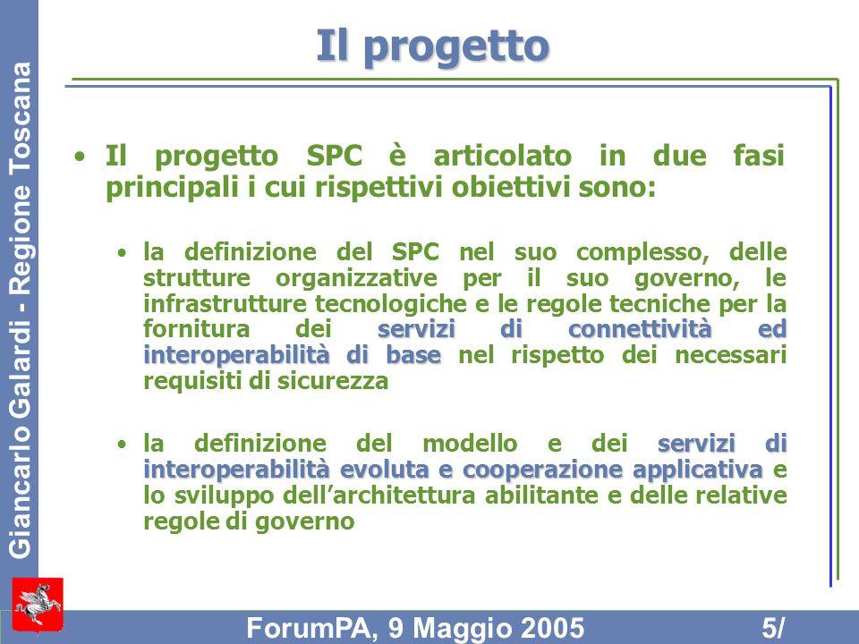 Il progetto Il progetto SPC è articolato in due fasi principali i cui rispettivi obiettivi sono:
