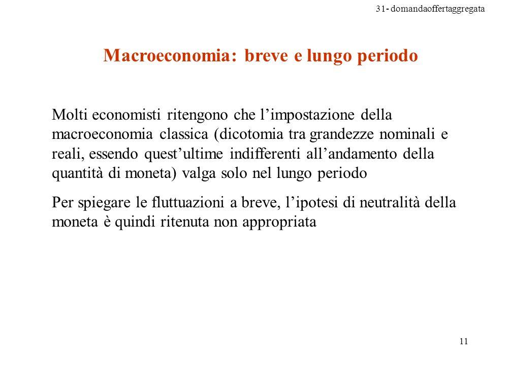 Macroeconomia: breve e lungo periodo