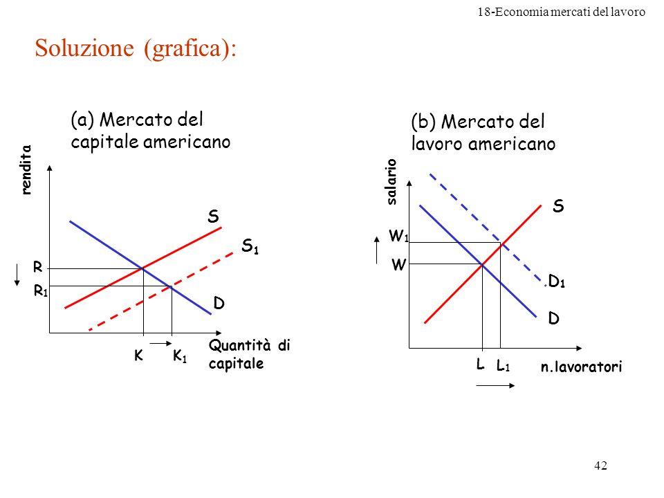 Soluzione (grafica): (a) Mercato del capitale americano