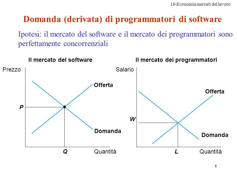 Domanda (derivata) di programmatori di software