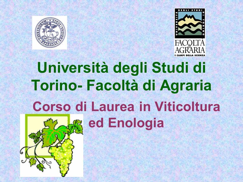 Università degli Studi di Torino- Facoltà di Agraria