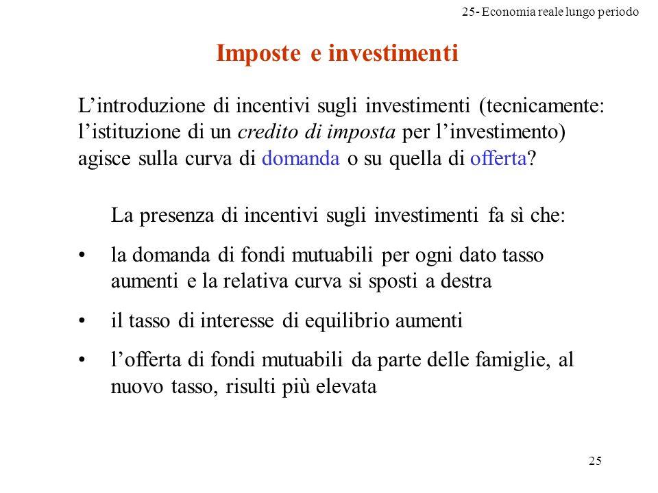 Imposte e investimenti