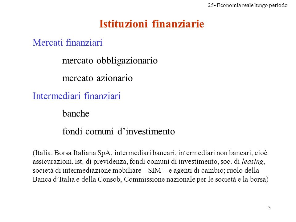 Istituzioni finanziarie