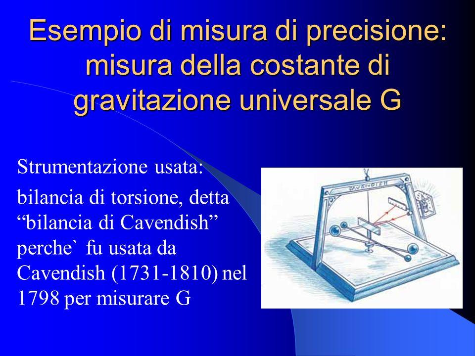 Esempio di misura di precisione: misura della costante di gravitazione universale G