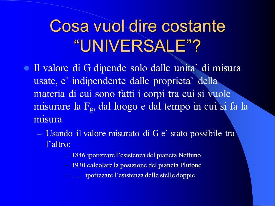 Cosa vuol dire costante UNIVERSALE