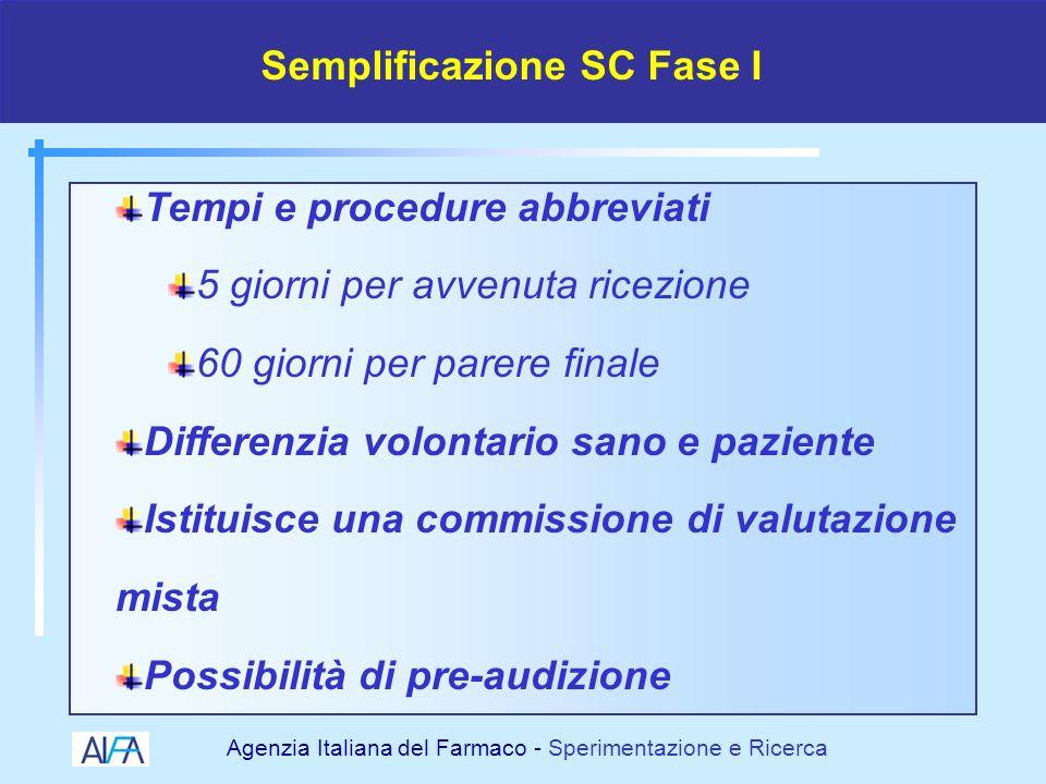 Semplificazione SC Fase I