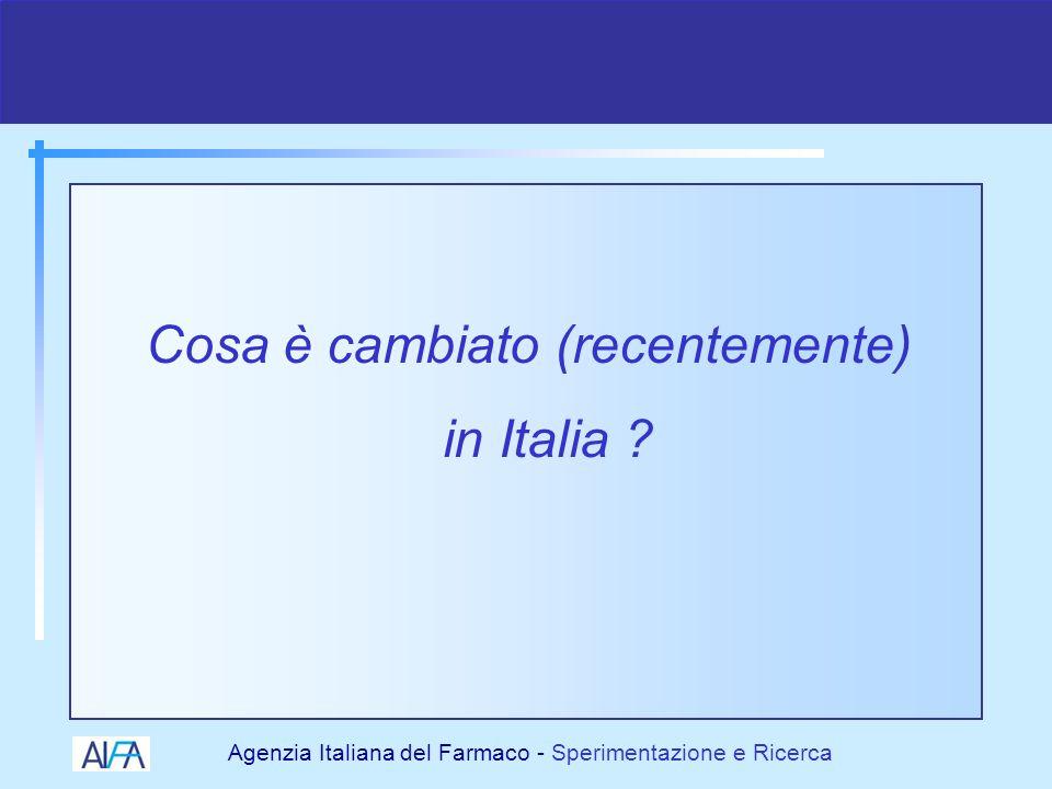 Cosa è cambiato (recentemente) in Italia