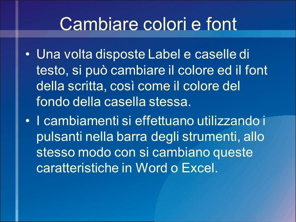 Cambiare colori e font