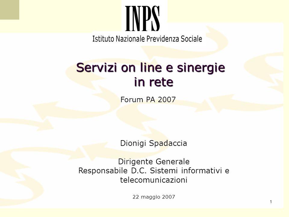Servizi on line e sinergie in rete