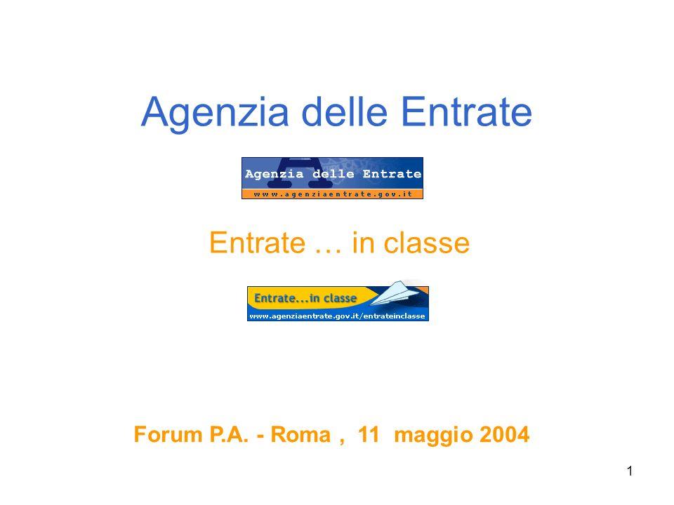 Agenzia delle Entrate Entrate … in classe