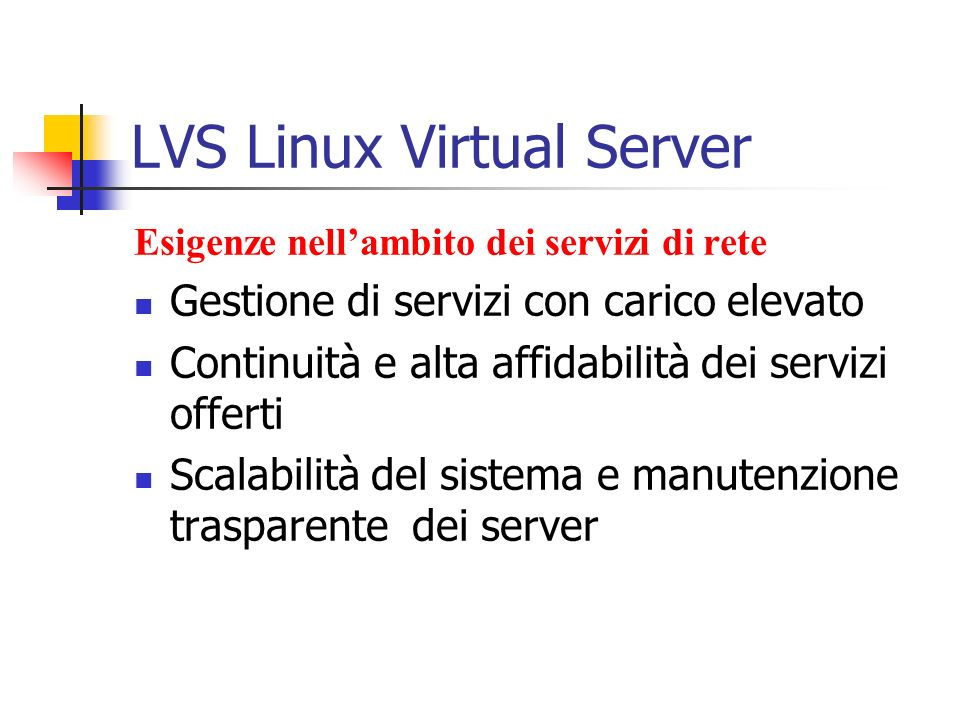 LVS Linux Virtual Server