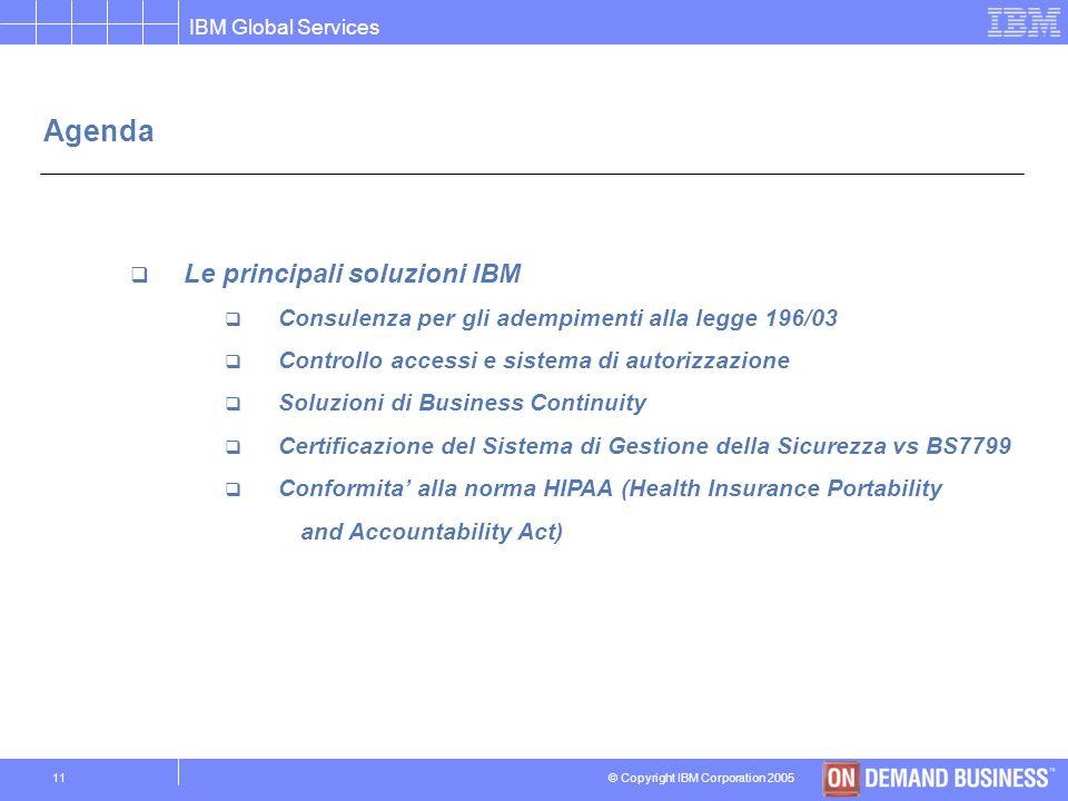 Agenda Le principali soluzioni IBM