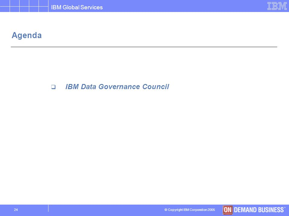 Agenda IBM Data Governance Council