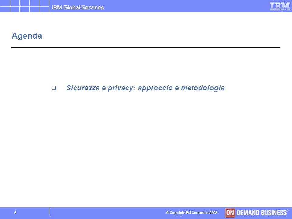 Agenda Sicurezza e privacy: approccio e metodologia