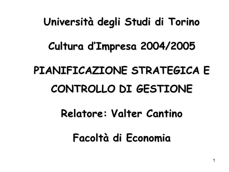 Università degli Studi di Torino Cultura d'Impresa 2004/2005