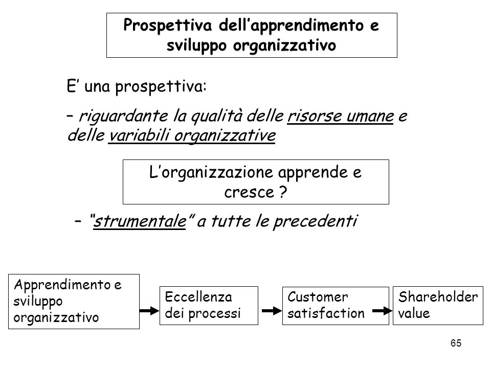 Prospettiva dell'apprendimento e sviluppo organizzativo