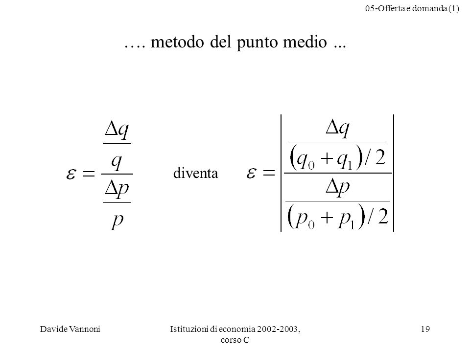 …. metodo del punto medio ...