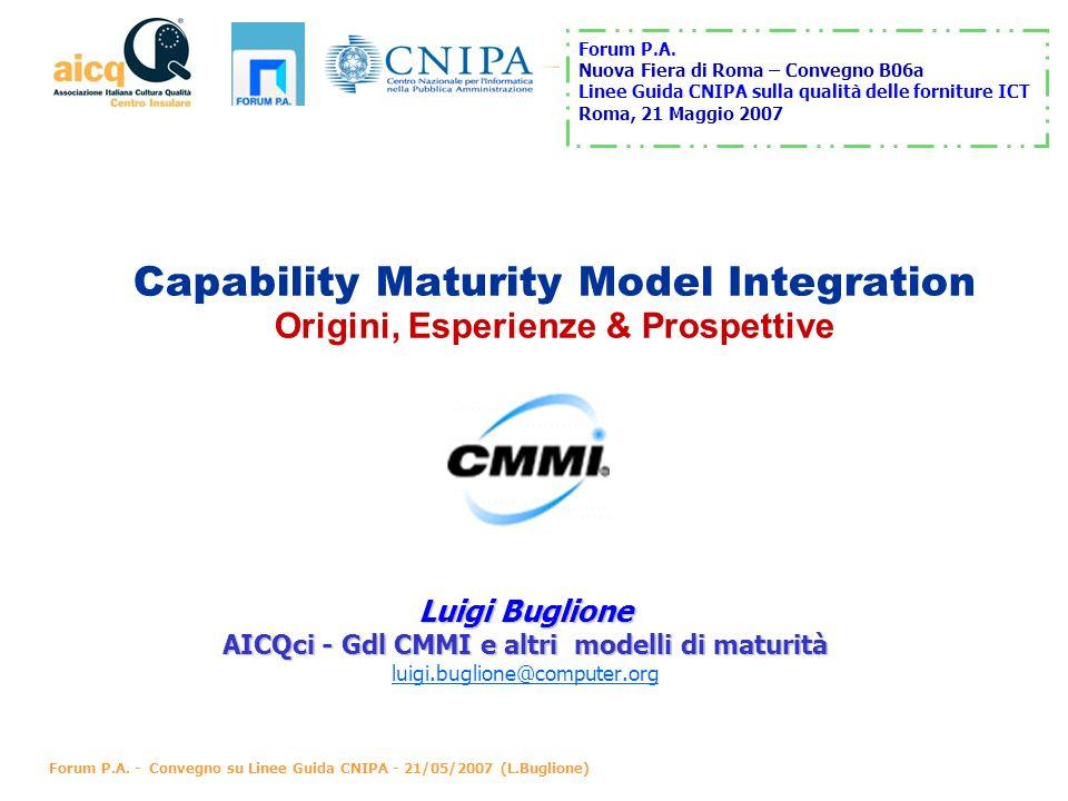 AICQci - Gdl CMMI e altri modelli di maturità