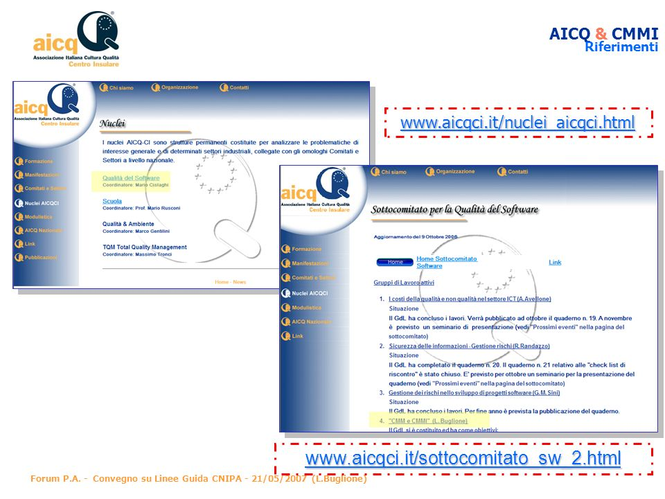 www.aicqci.it/sottocomitato_sw_2.html www.aicqci.it/nuclei_aicqci.html