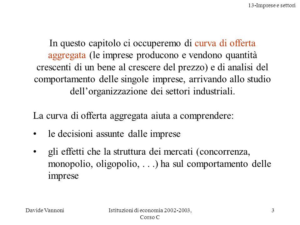 Istituzioni di economia 2002-2003, Corso C