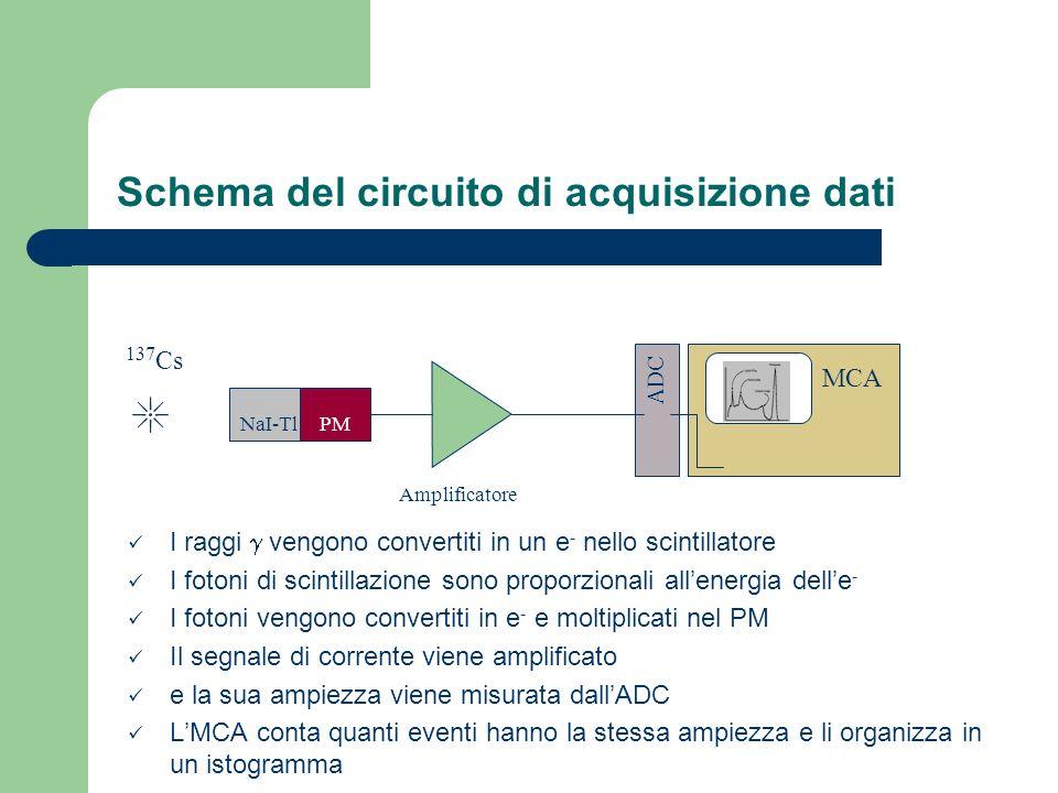 Schema del circuito di acquisizione dati
