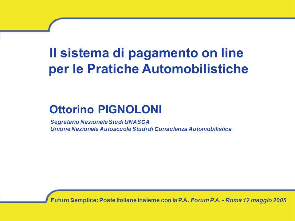 Il sistema di pagamento on line per le Pratiche Automobilistiche