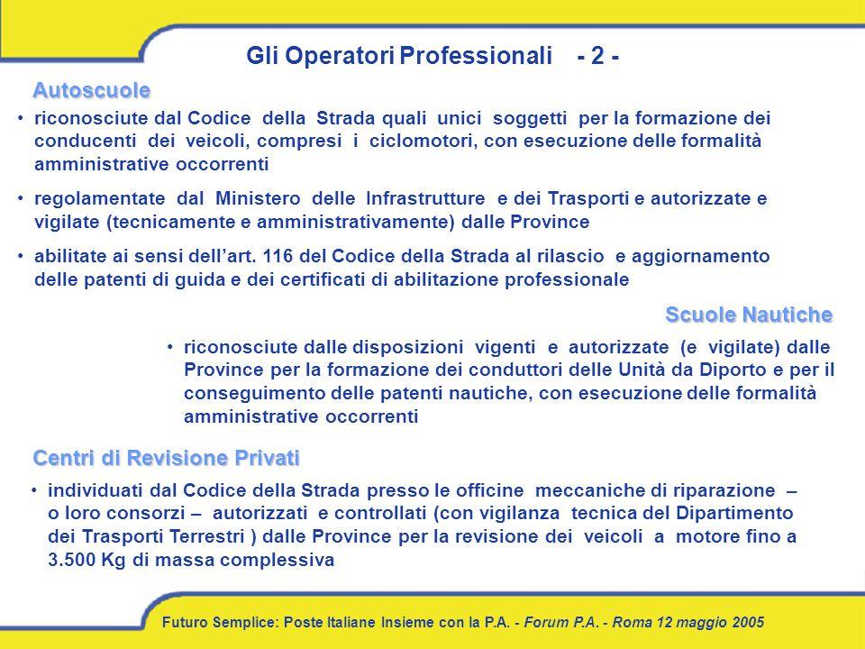 Gli Operatori Professionali - 2 -