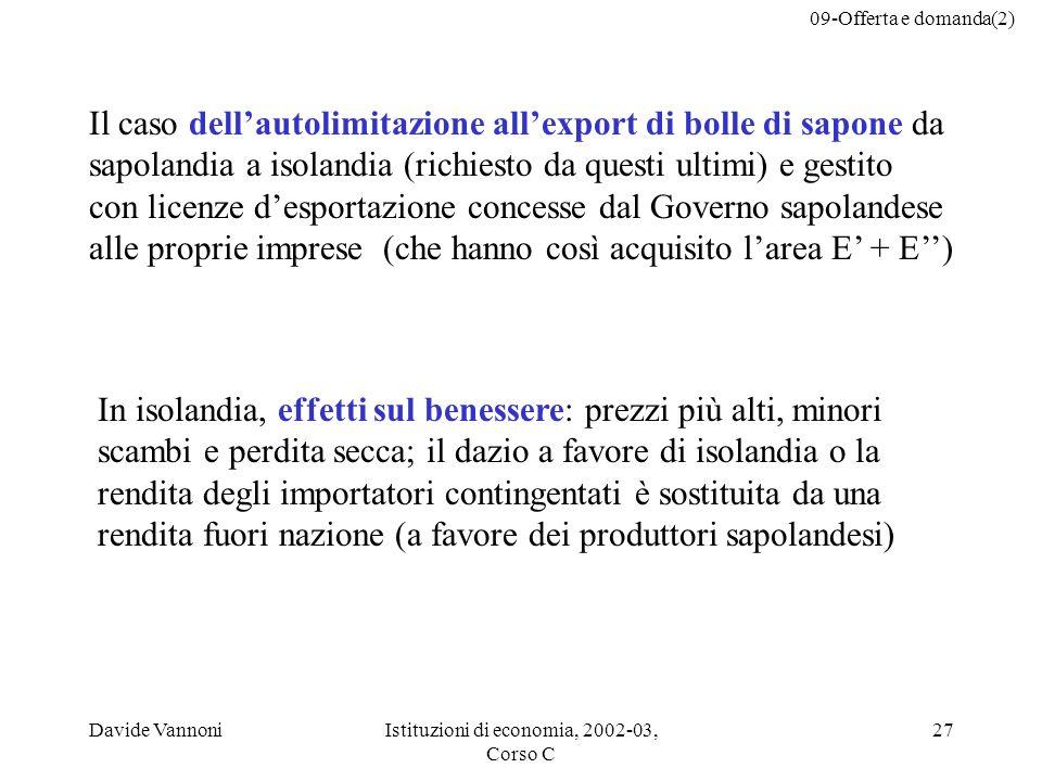 Istituzioni di economia, 2002-03, Corso C